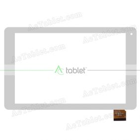 YTG-G10057-F5 V1.0 Digitizer Glass Touch Screen Replacement for 10.1 Inch MID Tablet PC