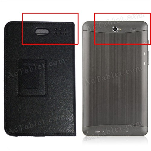 Leather Case Cover Stand for 7 inch MTK6577 Android Phone Tablet PC