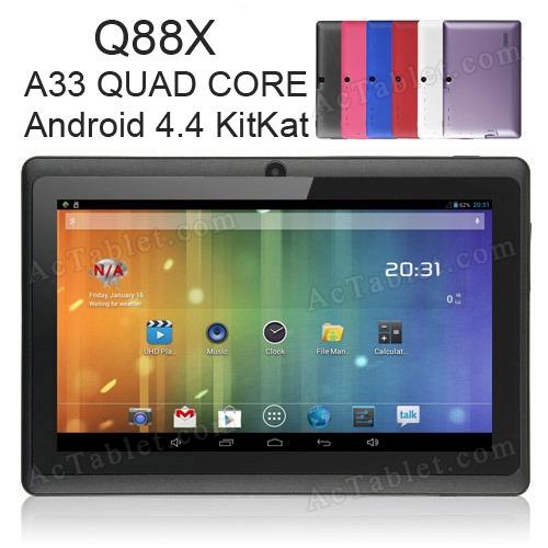 q88x allwinner a33 7 39 39 quad core google android 4 4 kitkat. Black Bedroom Furniture Sets. Home Design Ideas